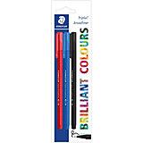 Набор капиллярных ручек Triplus, 3 цвета: синий, красный, черный, 0,8 мм, Staedtler