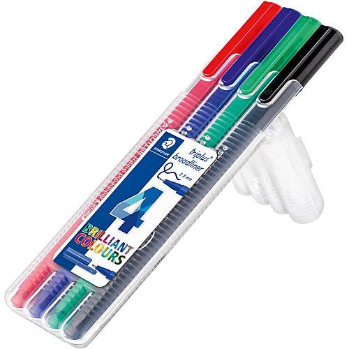 Набор капиллярных ручек Triplus, 4 цвета, 0,8 мм, Staedtler от Staedtler
