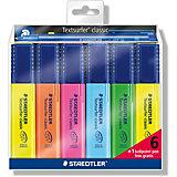 Набор маркеров-текстовыделителей Classic, 6 цветов + ручка 423М, 1-5 мм, Staedtler