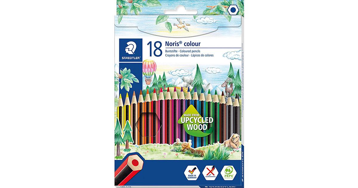 Noris colour Buntstifte, 6-Kant, 18 Farben