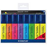 Набор маркеров-текстовыделителей Classic, 8 штук, 6 цветов, 1-5 мм, Staedtler