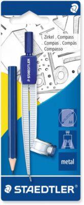 Циркуль Noris Club 550, max d = 30 см, с встроенным адаптером и карандашом, Staedtler