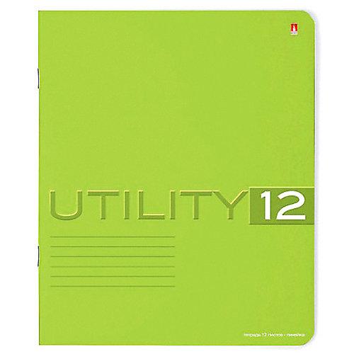 Тетрадь Unility 12 листов, линейка, цвет в ассортименте, 10 шт. от Альт