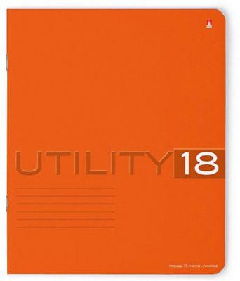 Тетрадь Unility 18 листов, линейка, цвет в ассортименте, 10 шт.