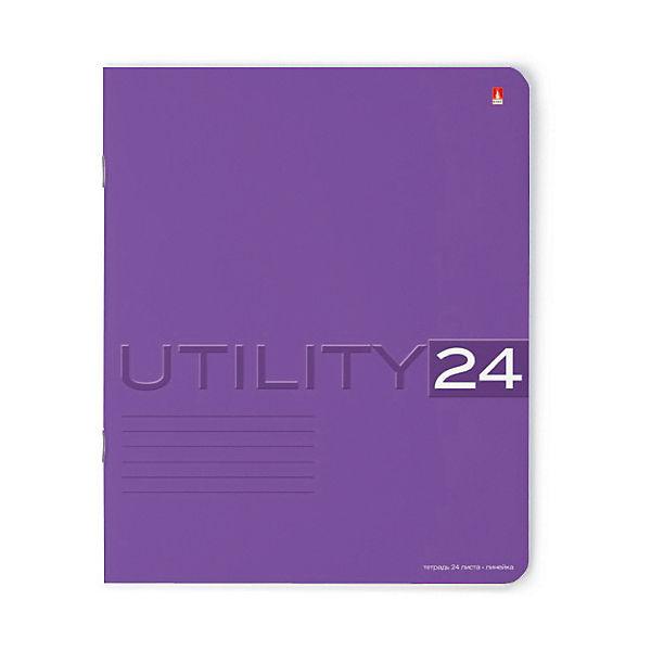 Тетрадь Unility 24 листов, линейка, цвет в ассортименте, 10 шт.