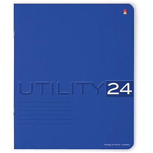 Тетрадь Unility 24 листов, линейка, цвет в ассортименте, 10 шт. от Альт