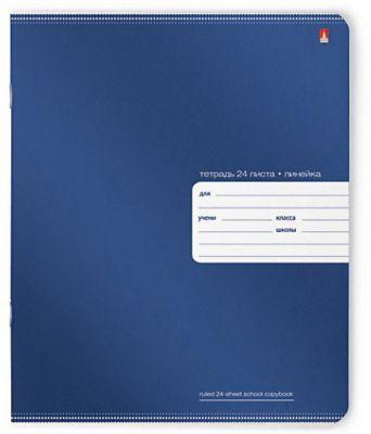 Тетрадь Премиум Металлик 24 листов, линейка, цвет в ассортименте, 10 шт.