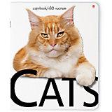 Тетрадь Кошки 48 листов, клетка, 5 шт., рисунок в ассортименте