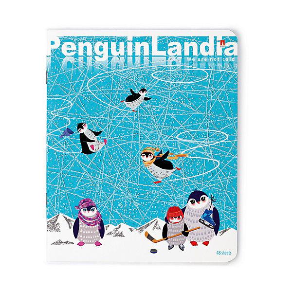 """Тетрадь """"Веселые пингвины""""  48 листов, клетка, 5 шт., рисунок в ассортименте"""