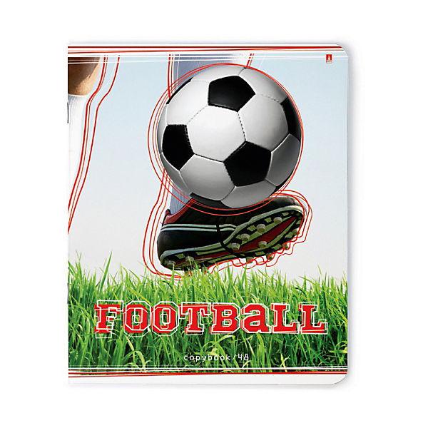 """Тетрадь """"Футбол""""  48 листов, клетка, 5 шт., рисунок в ассортименте"""