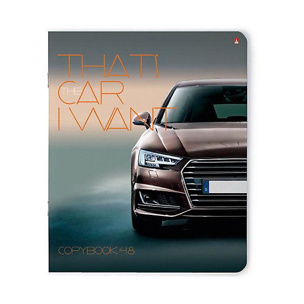 """Тетрадь """"Машина моей мечты"""" 48 листов, клетка, 5 шт., рисунок в ассортименте"""