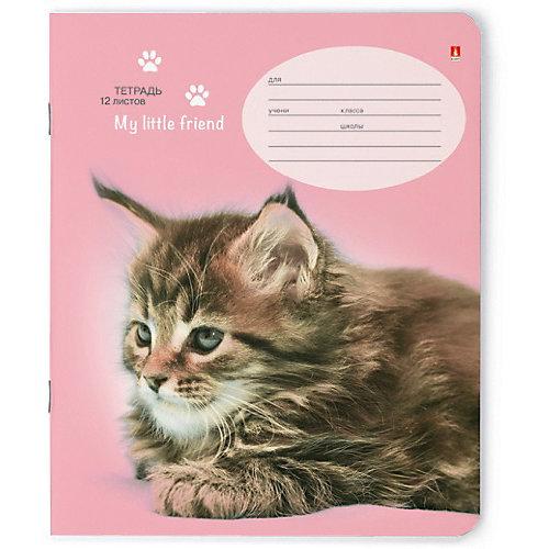"""Тетрадь """"Котята"""" 12 листов, линейка, 10 шт., рисунок в ассортименте от Альт"""