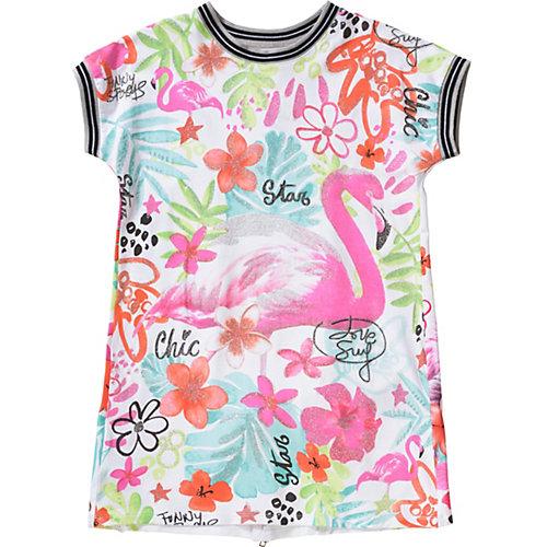 Kinder Jerseykleid mit Glitzerprint, Flamingo Gr. 104 Mädchen Kleinkinder | 08434484031465