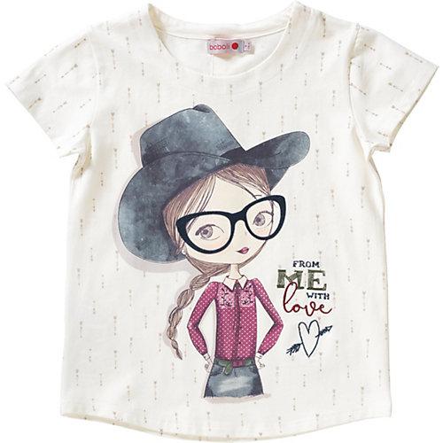 T-Shirt mit Zierknopfleiste am Rücken Gr. 122 Mädchen Kinder | 08434484089459
