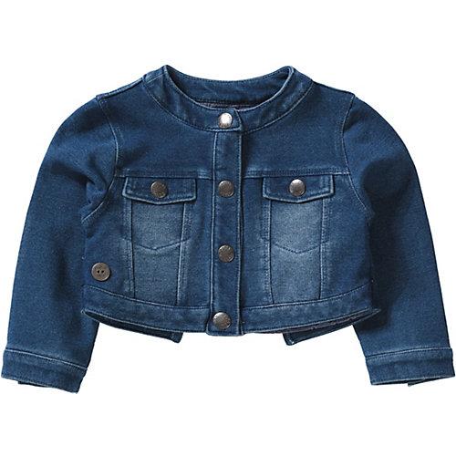 BÒBOLI Baby Sweatjacke im Denimlook Gr. 68 Mädchen Baby   08434484070495