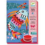 Набор цветного песка Радужные рыбки, Djeco