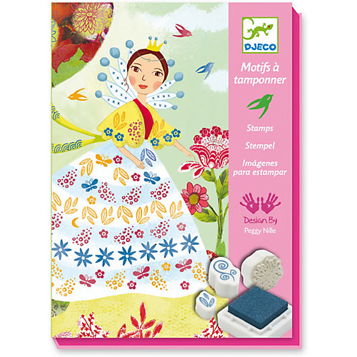 Набор штампов «Девушки с цветами», Djeco от DJECO