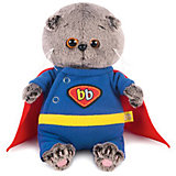 Мягкая игрушка Budi Basa Кот Басик Baby в костюме супермена, 20см