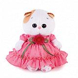 Мягкая игрушка Budi Basa Кошечка Ли-Ли Baby в платье с вязаным цветочком, 20см