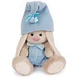 Мягкая игрушка Budi Basa Зайка Ми - гномик в голубом, 15 см