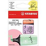 """Набор текстовыделителей Stabilo """"Boss mini Pastellove"""", мята, лаванда, персик"""