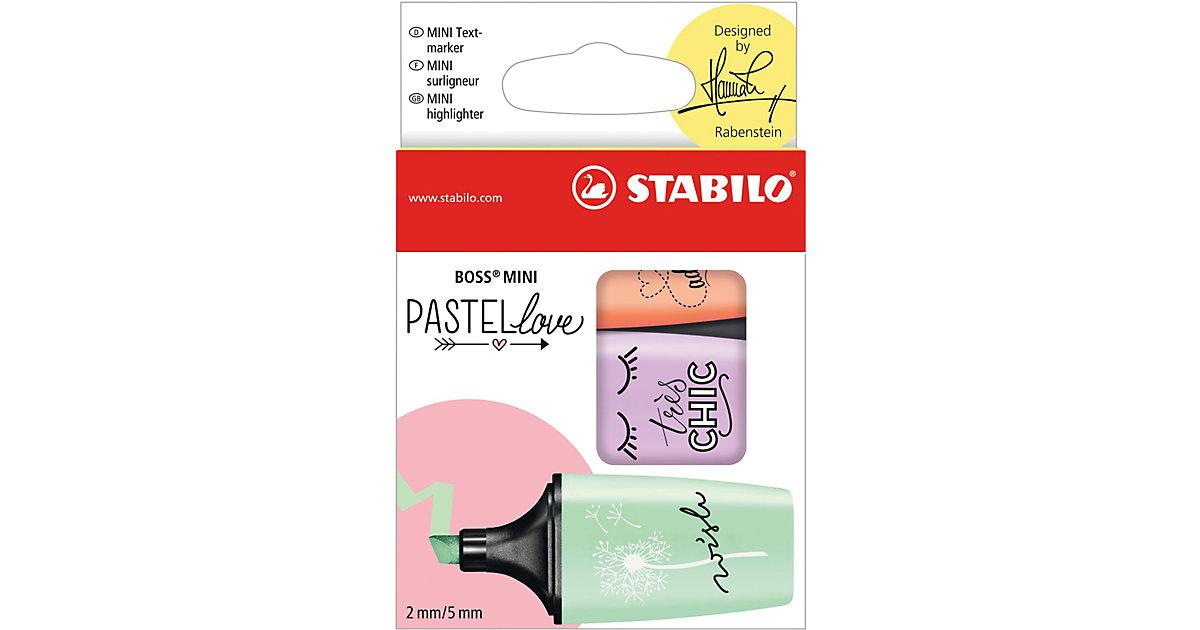 STABILO BOSS MINI Pastellove , 3 Farben