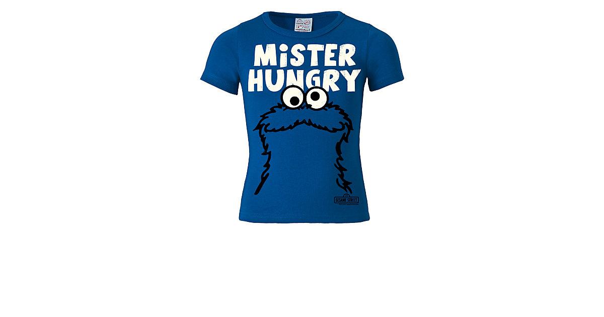 11ac2b0270 Logoshirt T-Shirt mit Krümelmonster - Mister Hungry-Frontdruck T-Shirts  blau/