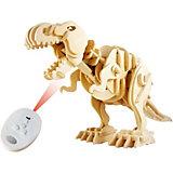 Деревянный конструктор Тираннозавр , звуковой контроль, звуковые эффекты