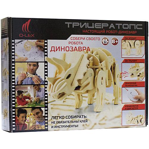 Деревянный конструктор Трицератопс , звуковой контроль, звуковые эффекты