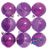 Набор шаров 9*6см Magic Story фиолетовый