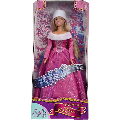 Кукла Штеффи в блестящем зимнем наряде, розовая, 29 см, Simba от Simba