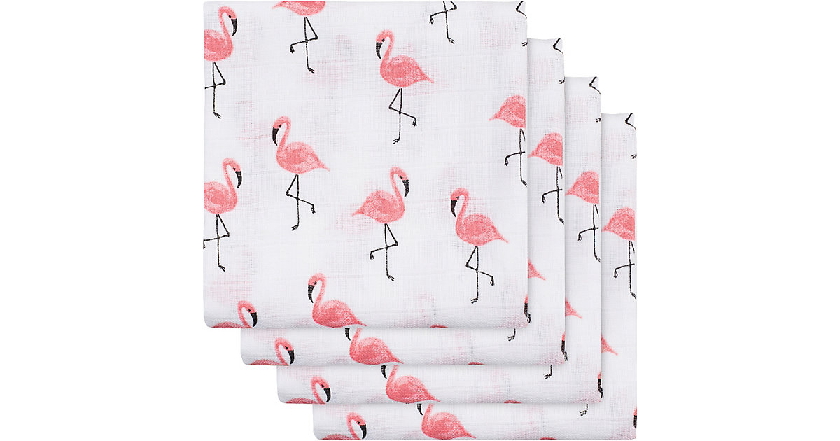 Jollein · Mullwindel Flamingo, 4er Pack