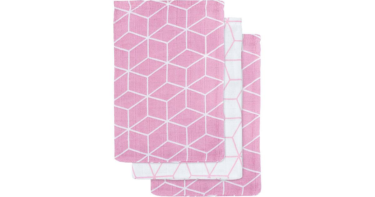Jollein · Mull Waschlappen Graphic mauve 3er Pack
