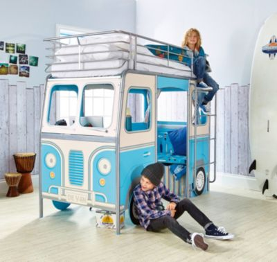 Kinderbett junge bus  Kinderbett und Sitzbank 2 in 1, 90 x 200 cm, WORLDS APART | myToys
