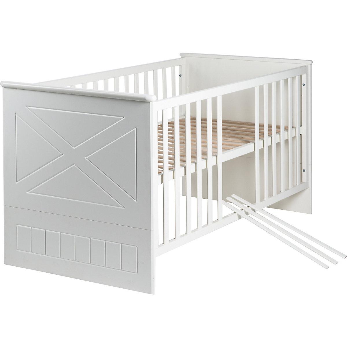 Angebot Kinderbett CONSTANTIN, 70 x 140 cm weiß/Canadian white, Roba   qbbwC