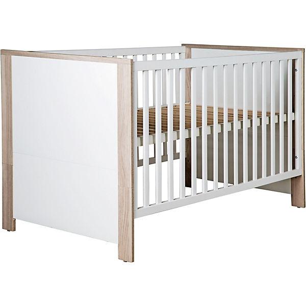 Komplett Kinderzimmer OLAF, 3-tlg. (Bett, Wickelkommode, Kleiderschrank  3-trg,), weiß/Luna Elm, Roba