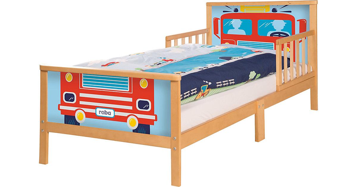 Kinderbett RENNFAHRER. 70 x 140 cm, natur