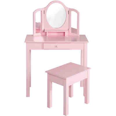 schminktisch mit hocker rosa lackiert roba mytoys