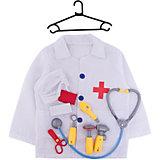 """Набор доктора ABtoys """"Важная работа"""", 10 предметов с халатом"""