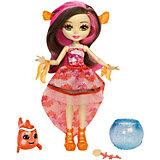 """Кукла Enchantimals """"Морские подружки с друзьями"""" Кларита и рыба-клоун, 15 см"""