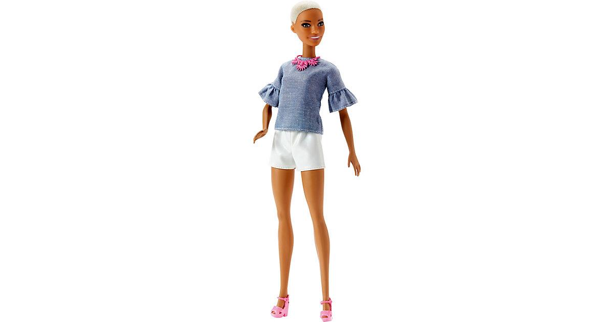 Barbie Fashionista Puppe mit Buzz Cut und weiße...