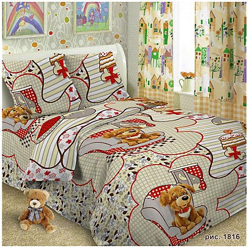 Детское постельное белье 1,5 сп Letto, Тузик - серый от Letto