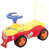 Машина-каталка Bugati с сигналом-пищалкой, красно-желтая