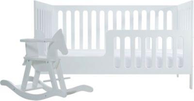 Kinderbett MILANO WEIß weiß 70 x 140 cm Schardt