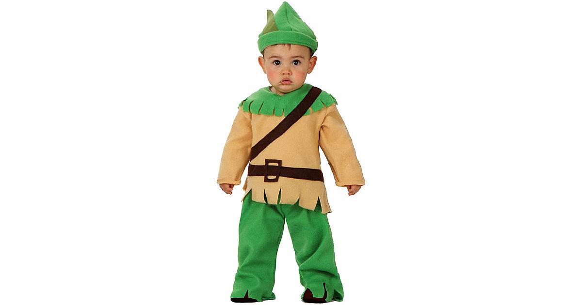 Kostüm Waldkind Robin, Größe 0-6 Monate grün Gr. 50/68 Jungen Kinder