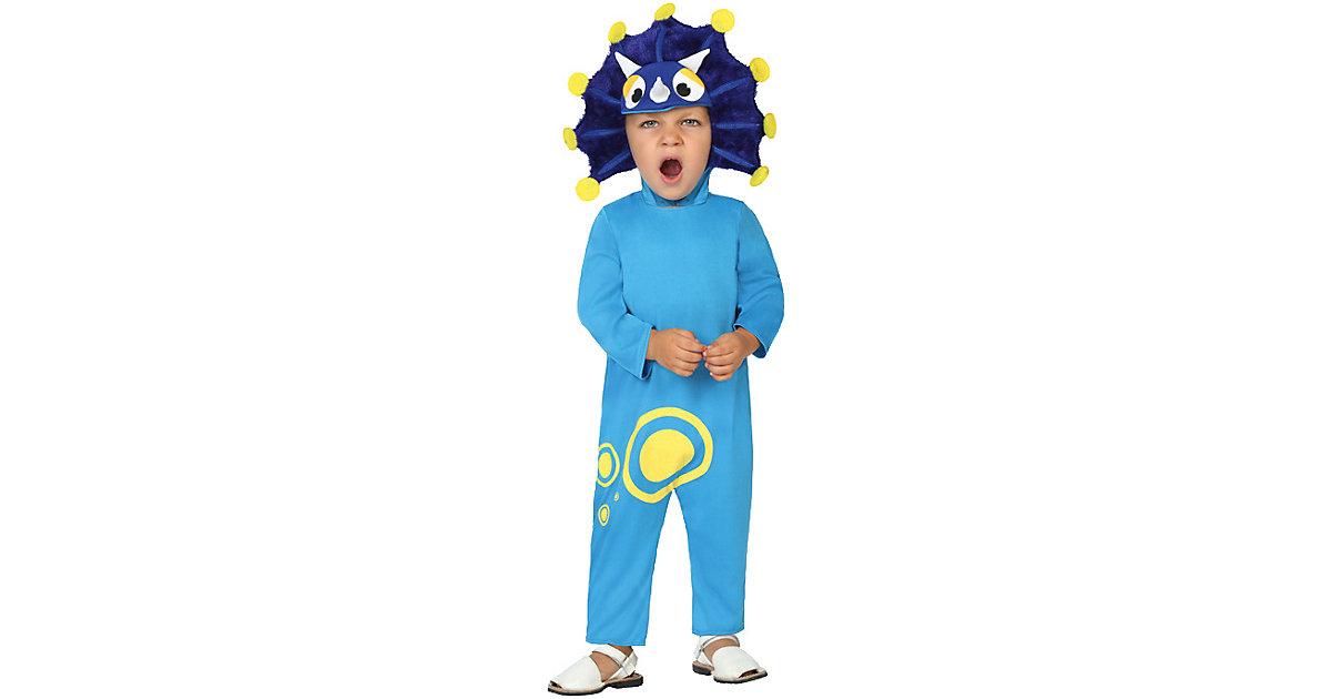 Kostüm Dinosaurier blau Gr. 50/68 Jungen Kinder
