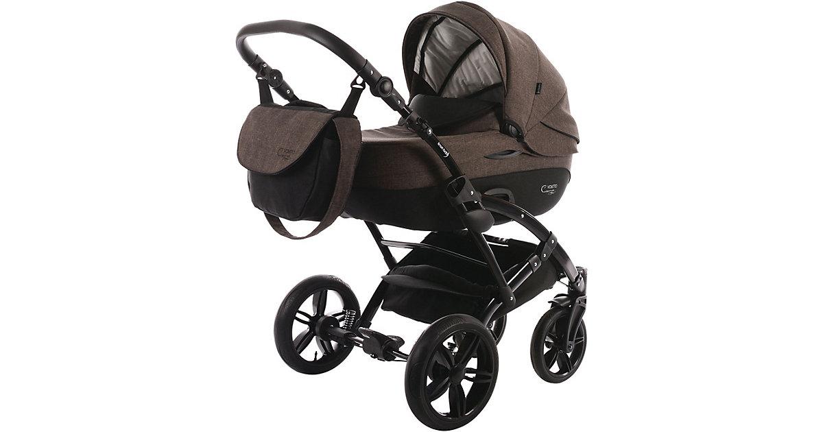 Knorr Toys · Kombi Kinderwagen Voletto Carryo, schwarz-braun