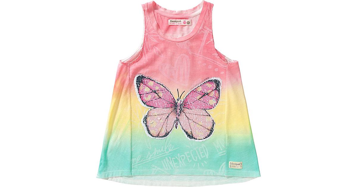 Desigual · Top mit Wendepailletten , Schmetterling Gr. 98/104 Mädchen Kleinkinder