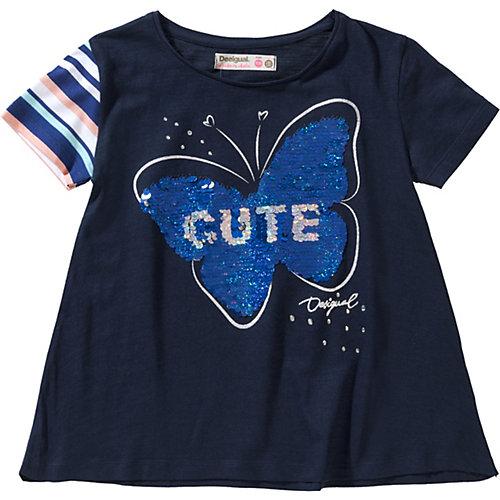 Desigual T-Shirt mit Wendepailletten, Schmetterling Gr. 146/152 Mädchen Kinder | 08434486431492