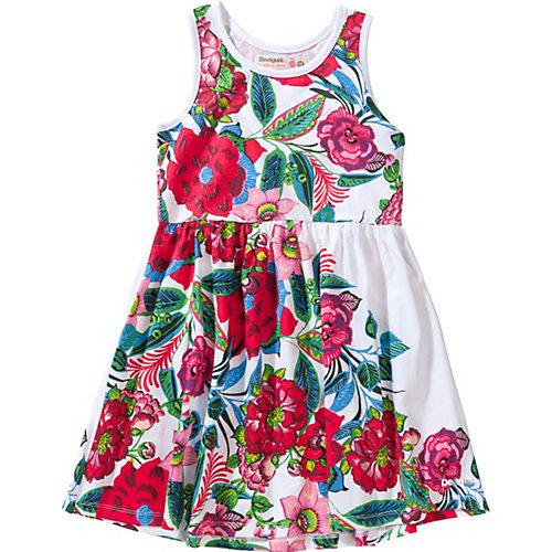 Desigual Kinder Jerseykleid, Blumen Gr. 122/128 Mädchen Kinder | 08434486419254